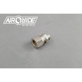 "Brass Fitting for hardline 10mm - 1/4"" external"