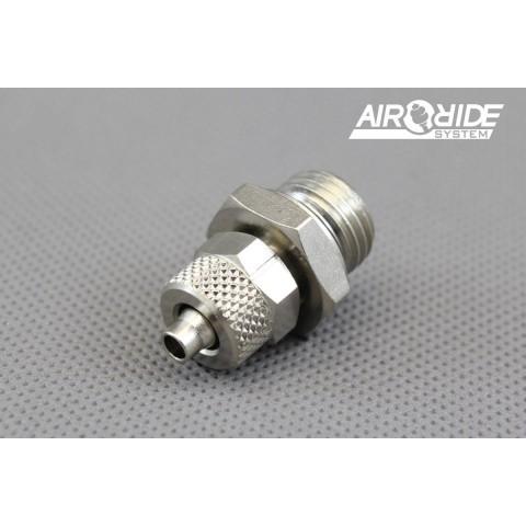 """Brass Fitting for air-hose 6/4mm - 1/4"""" external"""