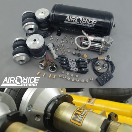 air-ride BEST PRICE kit VIP 4-way - VW Scirocco 1 / 2 with shocks