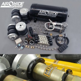 air-ride PRO kit VIP 4-way - VW Caddy 1 / Caddy 2 with shocks